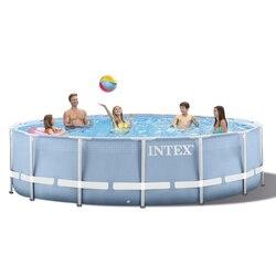 INTEX 305*76 cm Runde Rahmen Oberirdisch Pool Set 2019 modell Teich Familie Schwimmen Pool Filter Pumpe metall rahmen struktur pool