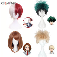 Coshome Boku No Hero Academia Cosplay Wigs My Hero Academia Izuku Midoriya Ochako Green Yellow And