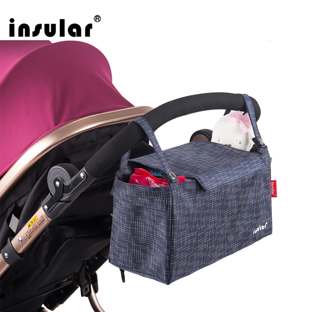 Insular Nappy Organizer Hanging-Carriage Baby-Bag Stroller Mommy Baackpack Infant Large