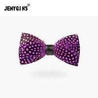 Jenygins moda rojo púrpura violeta dot hombres mujeres BowTie plumas novio boda bowknot jóvenes lazo envío libre