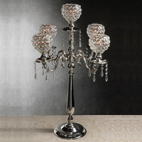 H75CM Silver and Gold wedding crystal candlesticks five furnishing articles Wedding Gifts & Crafts props road lead