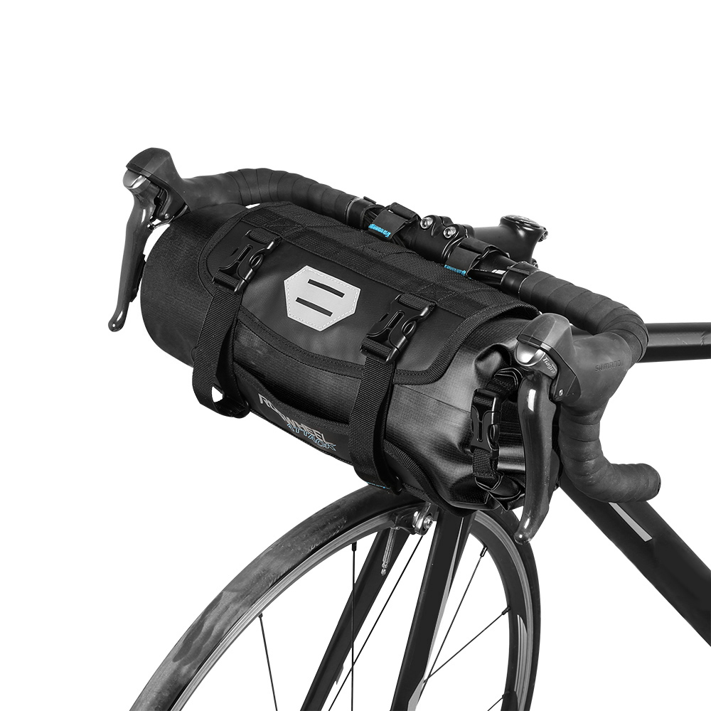 ROSWHEEL Bicycle Bag Waterproof Cycling Mountain Road MTB Bike Front Frame Handlebar Pannier Dry Bag with Roll Top Closure 3L-7LROSWHEEL Bicycle Bag Waterproof Cycling Mountain Road MTB Bike Front Frame Handlebar Pannier Dry Bag with Roll Top Closure 3L-7L
