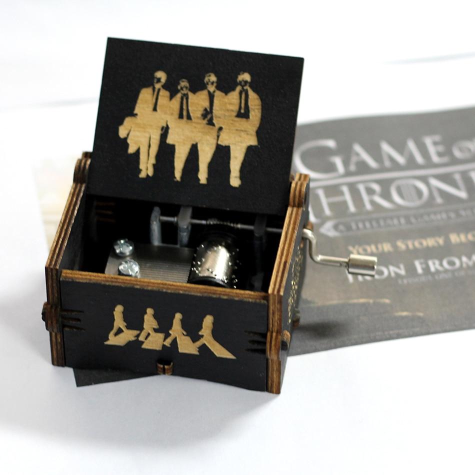 Лидер продаж деревянная ручка музыкальная шкатулка игра трон Пираты Кариб Звездные войны замок Inthe Sky Рождественский подарок