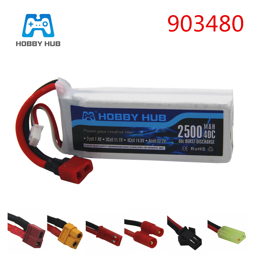 7.4v 2500mAh 40c Lipo Battery For Syma X8C X8W X8G X8 RC Quadcopter 12428 12423 Car Parts 7.4 V 903480 Toys Battery
