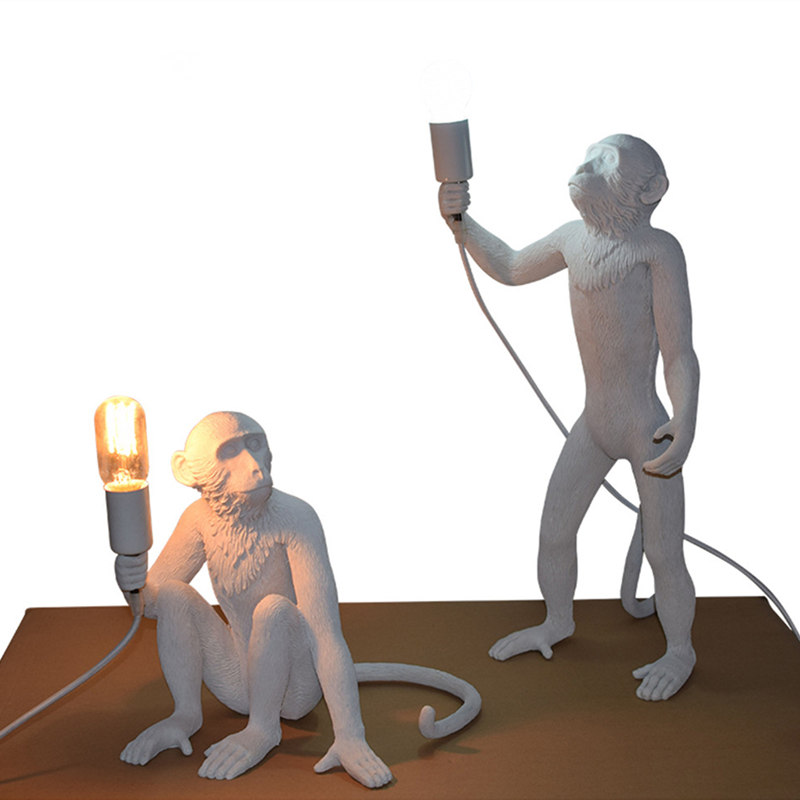 New-Monkey-Standing-Lamp-White-Resin-Modern-Monkey-Floor-Light-LED-Bulb-for-Living-Room-Bedroom_