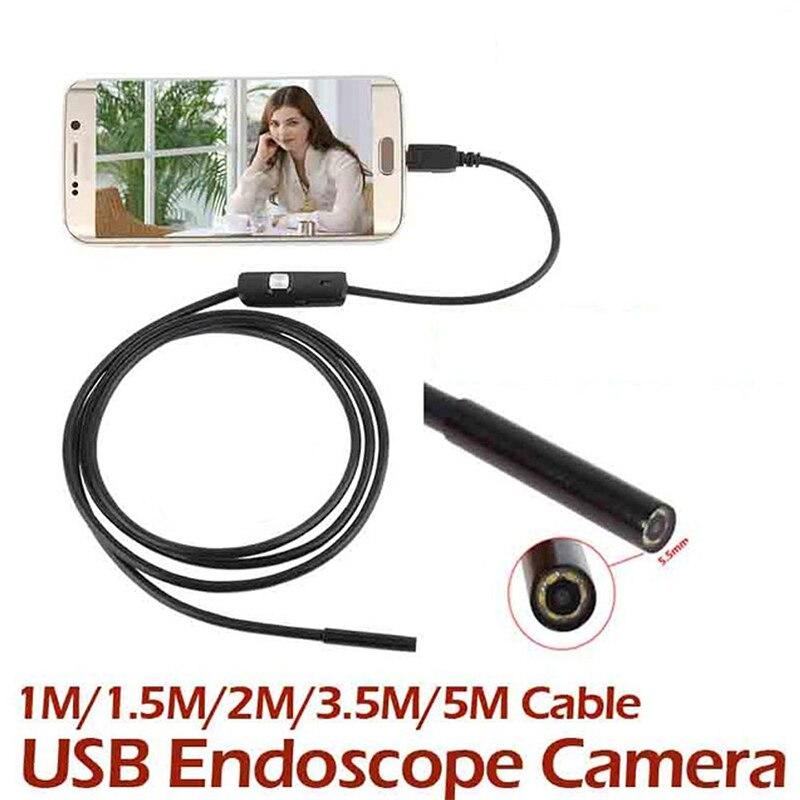1M Endoscope Camera 7MM Mini Android Video Cameras Usb Borescope Borescopes Camcorders Scope