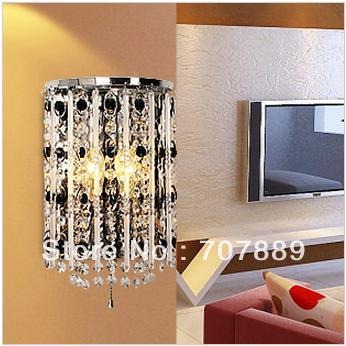 Free shipping Modern crystal wall lamps Dia 18cm bedside wall light Fashion fixture lighting lights Sconces decor WL045 modern brief crystal pendant light lamps diameter 48 cm free shipping