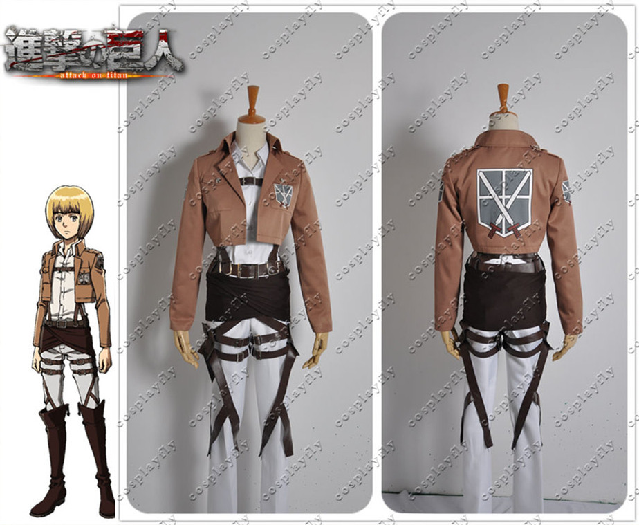 Attack on Titan Shingeki no Kyojin Armin Arlart Shingeki no Kyojin Cosplay Costume custom made any size (W0238)