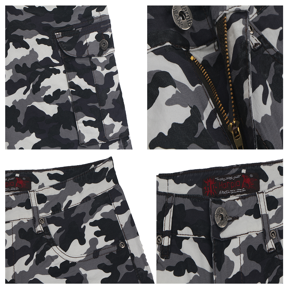 Harpia High-end Mens Camo Shorts Male Bermuda Camuflada Shorts Men Loose Casual Plus Size Pocket Military Big Size Male Short