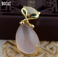 S925 sterling silver Thai silver Furong electroplating process fox pendants