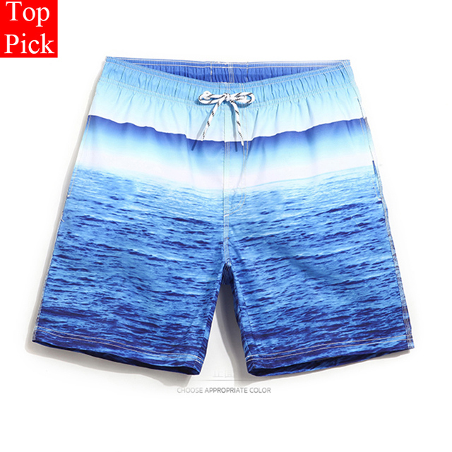 Quick Drying Beach Shorts Ocean printing Men Swimwear Men's Surf Swim Boxer Men's  Swimming Trunks for