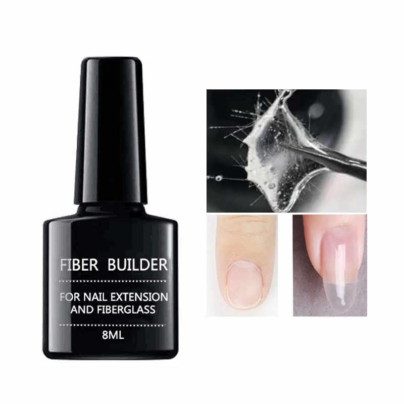 8ml Fiber Builder Gel 2 stuks Base Coat Top Coat 10 Stuks Nail Fiber Glass Nail Clip Kit Nail extension UV Lamp Vernis Poly Gel # b