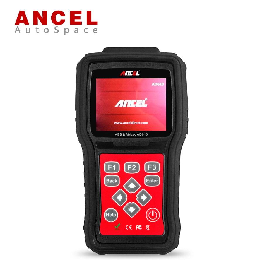 Цена за Ансель AD610 мультибрендовый автомобиль ABS SAS SRS сброс данных краш инструмент + Универсальный OBD OBD2 автомобильной сканера Диагностика Scan Tool