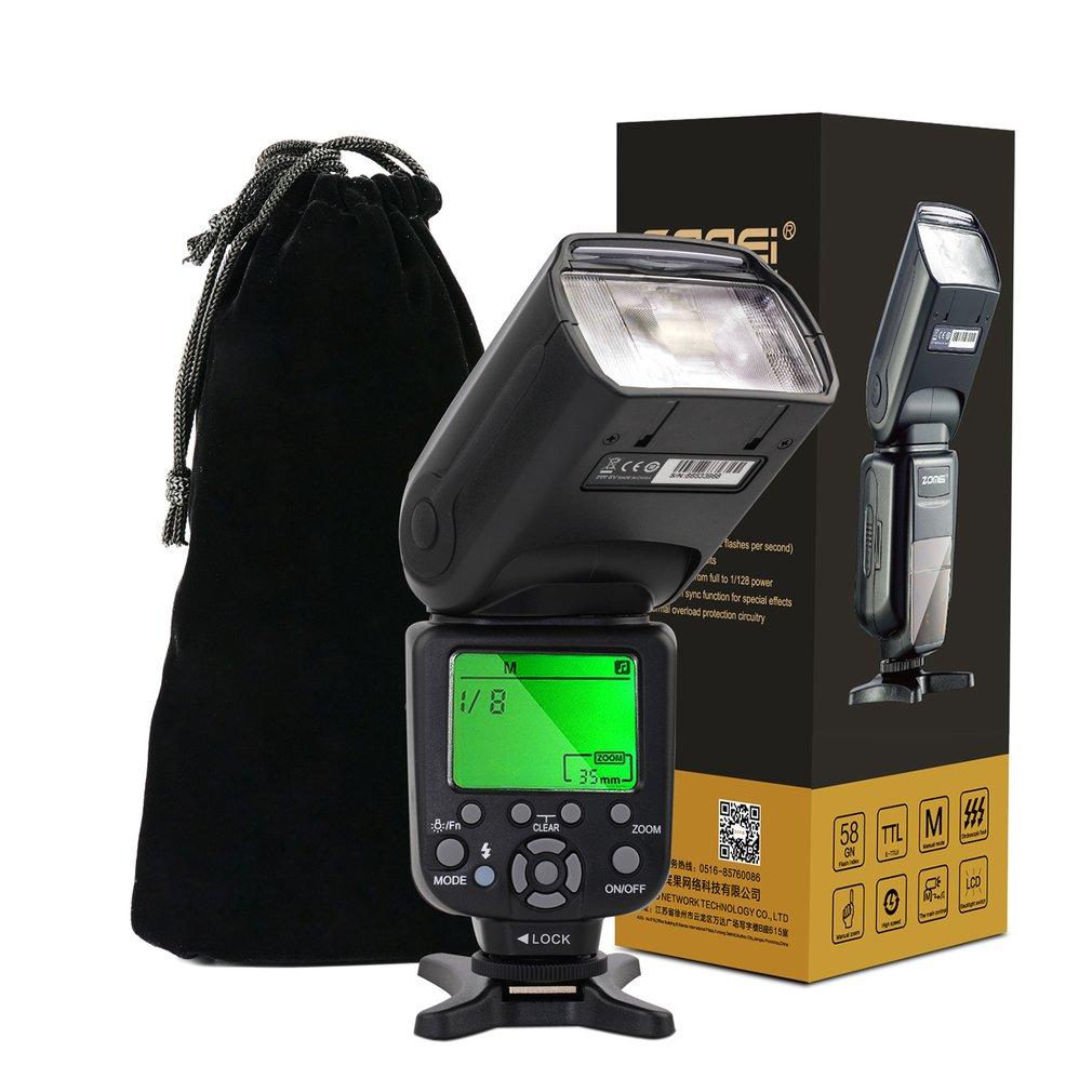 HOT Professional Zomei ZM-860T Speedlight, LCD Display TTL Speedlite, High Speed Sync Flash, For Canon, For Nikon DSLR Cameras zomei zm860t lcd display high speed ttl speedlite speedlight flash for canon 5d2 5d3 7d 700d nikon d7500 d7300 d5300 dslr camera