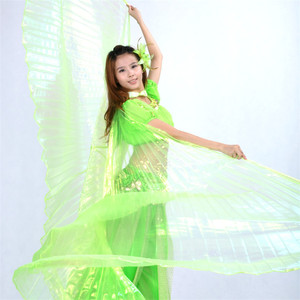 Image 5 - High quality Wholesale belly dance wing Women Belly Dance Translucent Wing Girls isis Wing Dance For Props Lady Dance Clothe