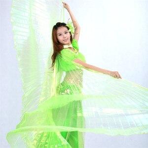 Image 5 - คุณภาพสูงขายส่ง belly dance ผู้หญิง Belly Dance โปร่งแสงปีกหญิง isis ปีก Dance สำหรับ Props Lady Dance ผ้า