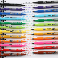 Japan Pilot Twin Point Marker Pen Mark Pens 1 SET 12 Colors Double Head Writing Drawing