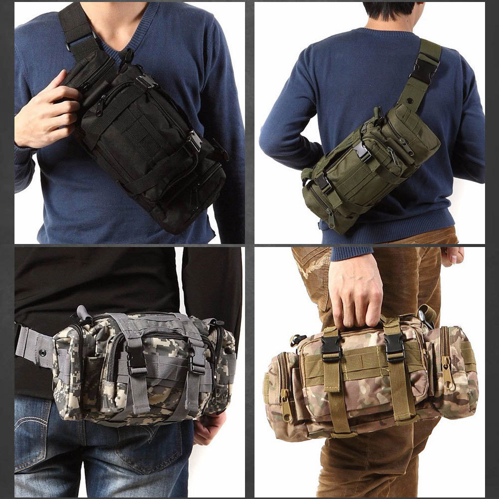 Emergency Tactical Kit Black Sport Bags Military Waist Pack Molle Outdoor Pouch Bag Durable Backpack For Camping Hiking