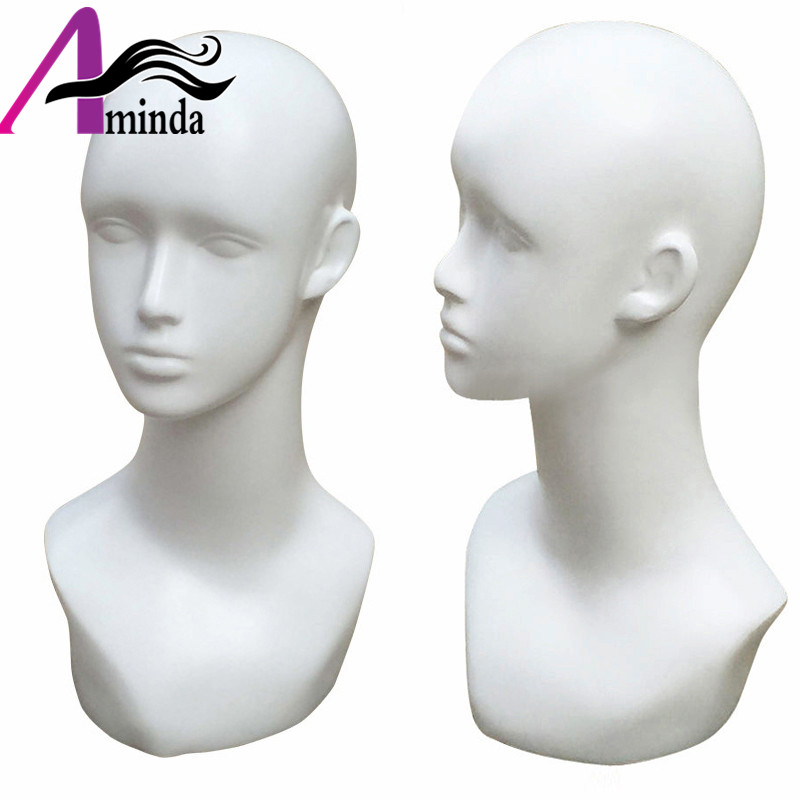 Grand yeux Stand Style mode mâle caractéristique tête sculptée Mannequin réaliste Mannequin tête pour chapeau lunettes de soleil affichage
