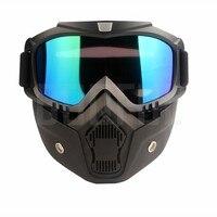 50 шт./лот защитные очки маски съемные ветрозащитные защита от пыли УФ защита велосипедные мотоциклетные очки для глаз маска для лица тактич