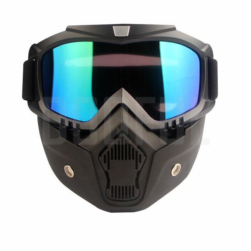 50 pcs/lot Sécurité Lunettes Masques Amovible Coupe-Vent Étanche À La Poussière Protection UV Vélo Moto Lunettes Masque Tactique