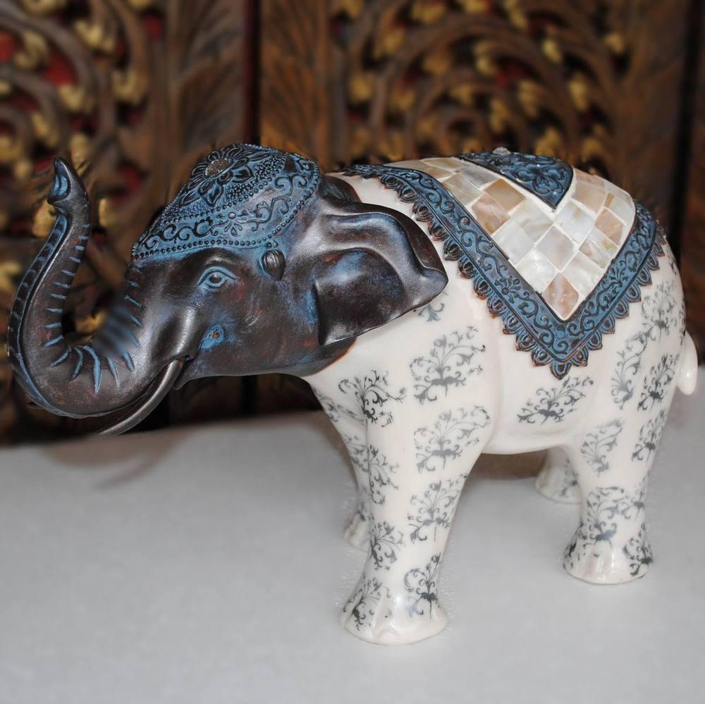Style sud-est asiatique résine artisanat cadeaux d'affaires maison accessoires hôtel décorations salon décoration éléphant ornements