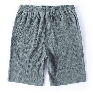 Image 2 - Mens Big Shorts Plus Size 11XL 12XL 13XL 14XL Summer Linen Large Stretch Sports Casual Loose 60 Black Shorts