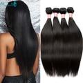 Straight Virgin Hair Bundles Deals High Quality Malaysian Virgin Hair Straight 4Bundles Rosa Queen Hair Products Straight Hair