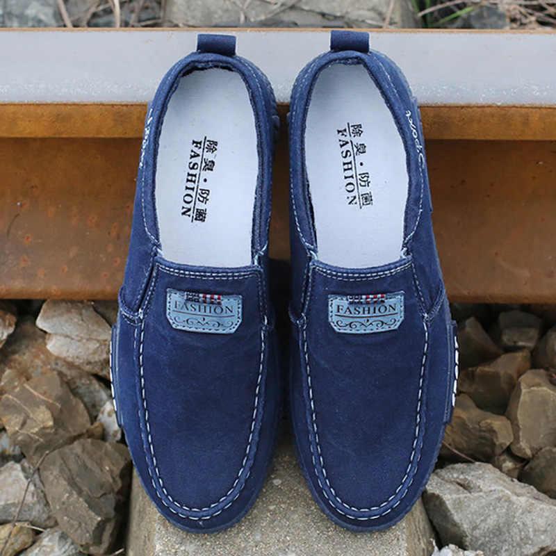 Giày Casual Nam Thoải Mái Nam Denim Nam Trưởng Thành Giày 2020 Mới Nam Cho Nữ Giày Nam Giày Plus kích Thước 46