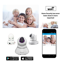 security camera wifi ip cam H.264 Mega Pixel HD with 2 Mega Pixel Focus Lens P2P onvif 128GB SD card MIC speaker PTZ kamera