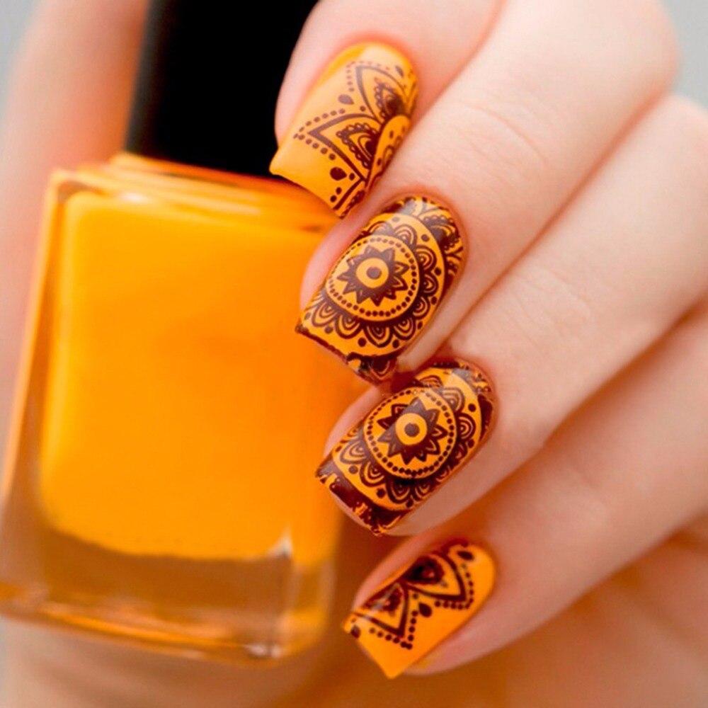 1 st Mandala Nail Art Stamp Template Plaat India Mandala Stijl Nail ...