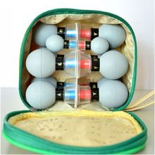 8/12/18 Lattine di Aspirazione coppe Cupping Set Agopuntura Cinese Terapia Fisica di Massaggio Magnetico Vasi per Vuoto Coppettazione terapia