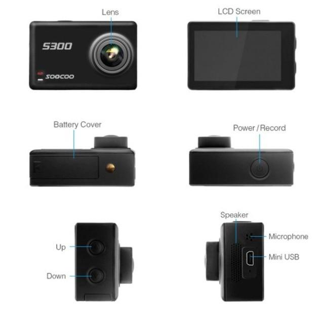 SOOCOO S300 Action Camera EIS Image Stabilization Sport Cam 4K 30FPS 2.35 4