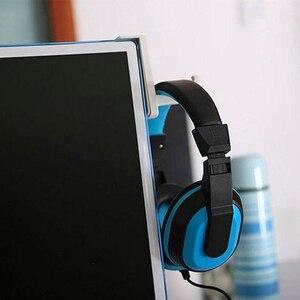 Image 3 - עמיד אוזניות Stand עם מקל אוזניות מחזיק קיר שולחן תצוגת אוזניות Stand צורת L סוגר אוזניות קולב אבזרים