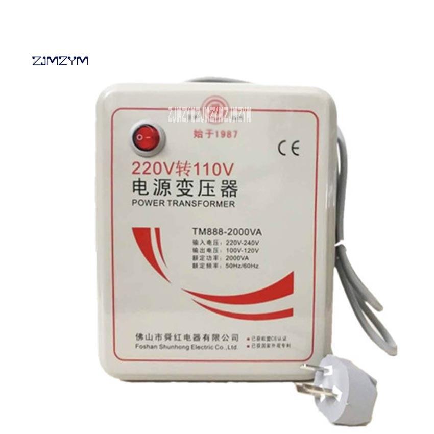 New Arrival TM888-2000VA 2000W High-power Transformer 220V Turn 110V to 220V Appliances Voltage Power Converter 50Hz/60Hz 2000VA 1pcs lot sh b17 50w 220v to 110v 110v to 220v
