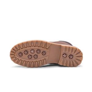 Image 4 - Misalwa botas de trabajo de cuero para hombre, botines de nieve Unisex, con cordones, color negro, marrón, blanco, Camel, para invierno