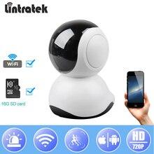 hot deal buy lintratek wifi surveillance camera hd 720p 16g tf card mini cctv video camera ip wi-fi home security camera baby monitor cam