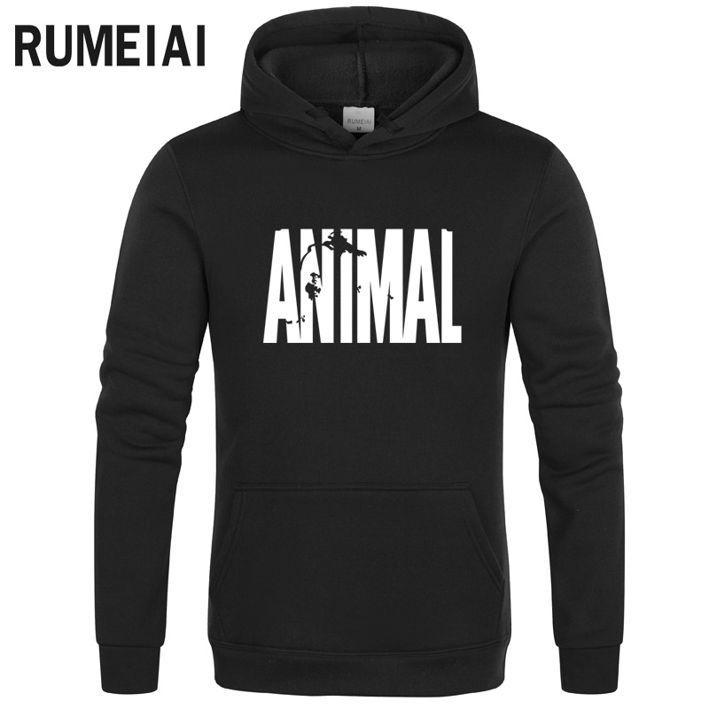 Bodybuilding Animal Hoodies Men Crossfit Fitness Loose Fit Gyms Musclefitting Male Sweatshirt 2019 Spring Winter Fleece Hoodie