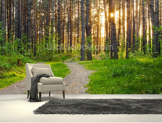 Custom natural wallpaper,Forest Sunset,3D landscape murals for living room bedroom kitchen background wall Embossed wallpaper medela с соской 250 мл