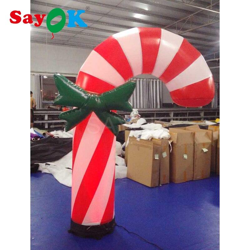 2 м/3 м высококачественный светодиодный надувной рождественские леденцы, палочки рождественские украшения для дома или магазина украшения