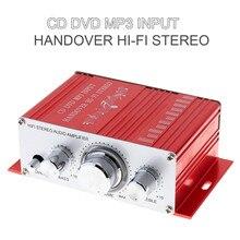 Kentiger 20 Вт красный HIFI мини цифровой авто amplificador мотоциклетные Авто Стерео Мощность Усилители домашние режим звука аудио Поддержка dvd