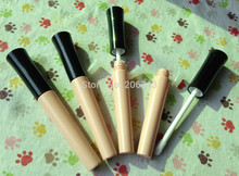 5 ml tubo de brillo de labios, cotainer cosmético, envase del rimel, maquillaje tubo de vacío, botella de plástico con top negro