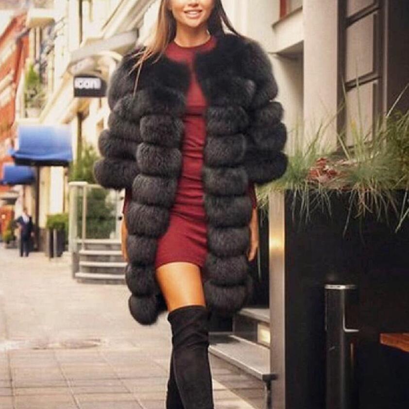 2019 Real Fox Fur Coat Women Grey Short Sleeve Vest Detachable Transform Vest Fashion Luxury Thick Warm Coat Jacket Solid Fur