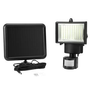 Image 3 - 100 led smd 태양 램프 야외 투광 조명 정원 램프 장식 밤 보안 태양 에너지 센서 벽 조명