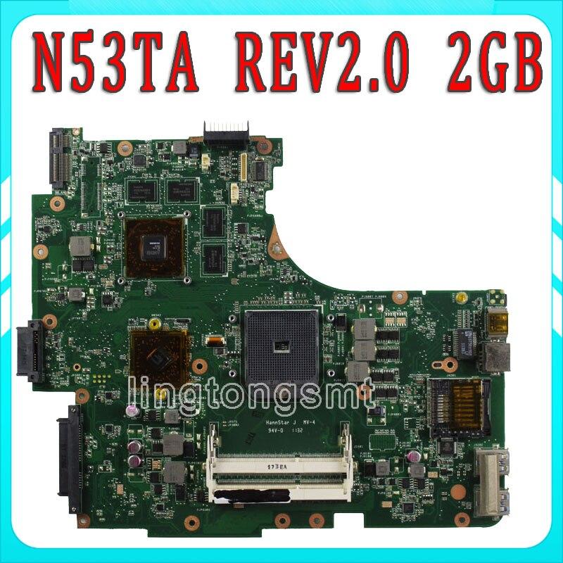 все цены на FOR ASUS N53TA N53TK N53T laptop motherboard 2GB USB3.0 REV:2.0 216-0810005 SOCKET FS1 M780G 100% Tested онлайн