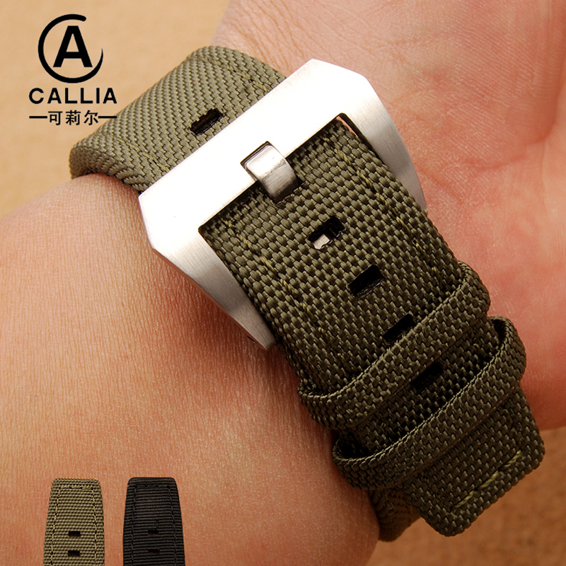 22mm Trendy Army font b Military b font Nylon Fabric Nato Strap For IWC For Panerai