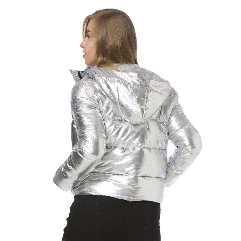 À Épais Femmes Longues Solide Chaud Bas 2017 Rembourré Manches Argent Veste Le Coton Vers vent Pain Coupe D'hiver Nouvelles Silver Capuche Parkas 75wa6