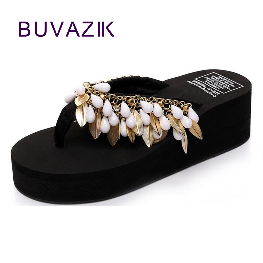 01ef1690074c31 2018 summer simple thick soled slippers Slip clip Toe flip flops Women s  fashion Muffin shoes-in Flip Flops from Shoes on Aliexpress.com