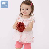 DB7241 Dave Bella Summer Baby Print Lovely Suits Children High Quality With Bows Costumes Infant Toddler