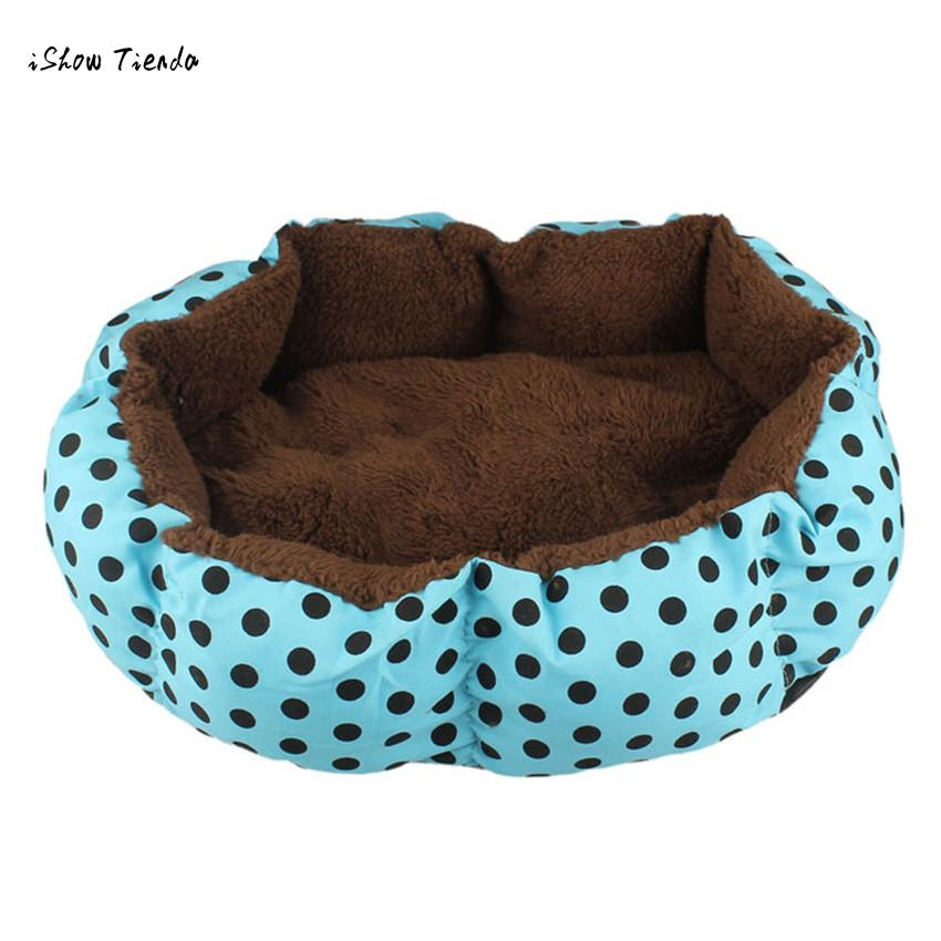 Ishowtienda New Lovely Little Dog Beds/mats Soft Flannel Pet Dog Puppy Cat Warm Plush Bed Cozy Nest Mat Pad Dropshipping